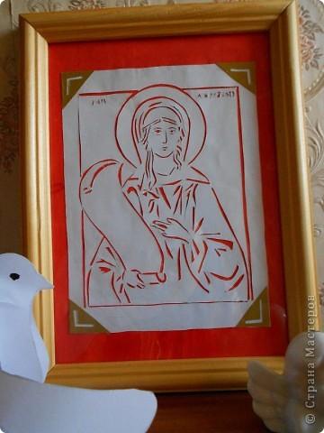 Вот такую именную икону подарила бабушке на ее 78-летие. Икона Марии Блаженной.