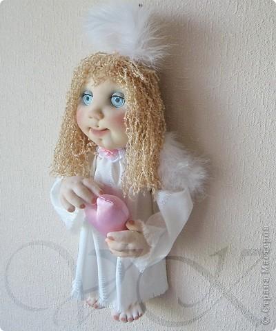 Бело-розовый Зефирчик. 40 см. фото 2