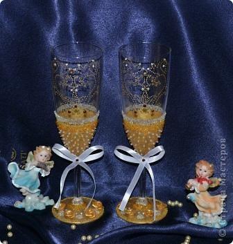 Свадебный набор в золотом тоне фото 3