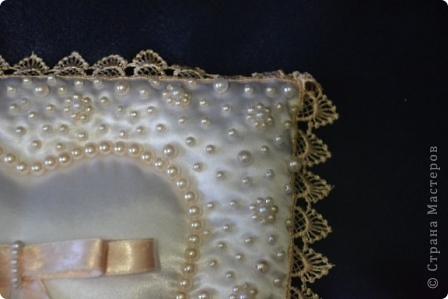 Вот таки свадебные подушечки получились у меня недавно  фото 6