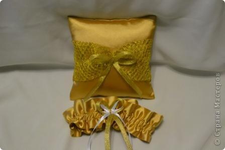Свадебный набор в золотом тоне фото 2