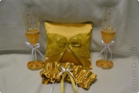 Свадебный набор в золотом тоне фото 1