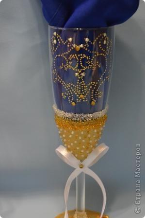 Свадебный набор в золотом тоне фото 6