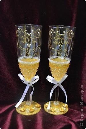 Свадебный набор в золотом тоне фото 4