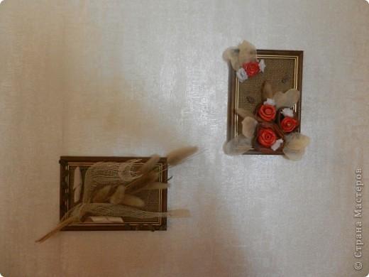 были рамочки небольшие, лежали глаза мозолили вот и решила я их в дело пустить,и пустое место на стене в коридоре заполнилось фото 3