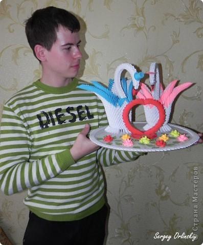 Лебеди сделаны специально на свадьбу Чечневым. фото 1