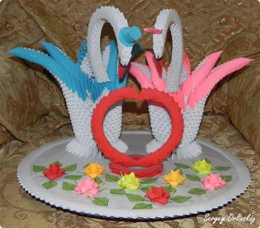 Лебеди сделаны специально на свадьбу Чечневым. фото 2