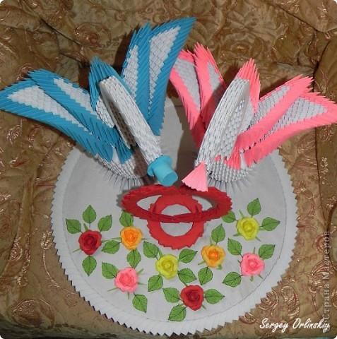 Лебеди сделаны специально на свадьбу Чечневым. фото 3