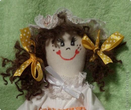 Девчушка-веселушка с Ромашками.Куколка в стиле примитив. фото 4