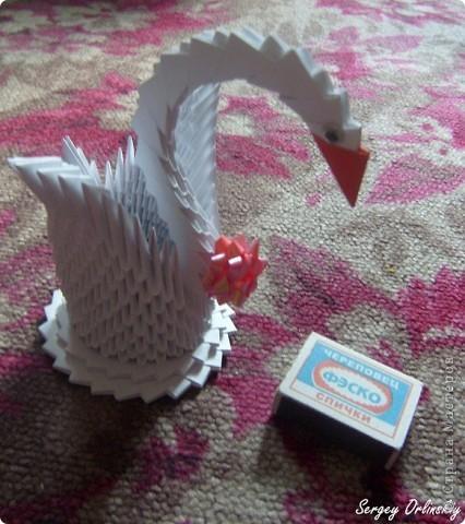 Лебедь сделан из модулей 1/64 .  Занимает мало места, хороший подарок.