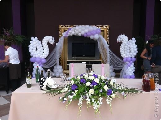 Оформление шарами свадьбы фото 1