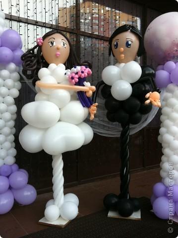 Оформление шарами свадьбы фото 2