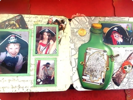 Альбом 19 на 19 см. Обложка - искусственная кожа, отделан золотистой лентой зиг-заг, металлическими подвесками, вырубная рамочка, застегивается на магнит. фото 15