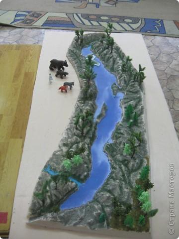 Как сделать макет озера байкал своими руками 93
