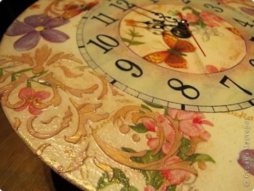 Задумывала сделать часы совсем по-другому, но в процессе работы они повели себя совсем непредсказуемо....... Да и в процессе фотосъемки совершенно не собираются отражать реальный цвет))) фото 3