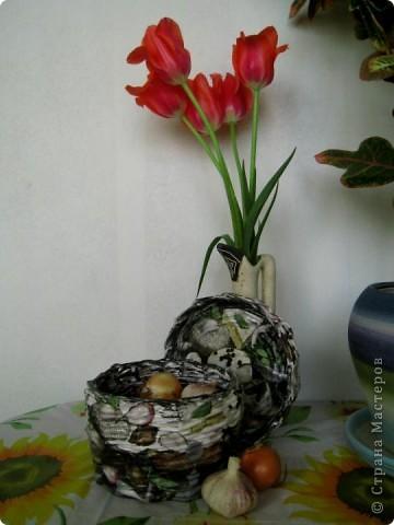 """Всем доброго дня! Вот и я увлеклась плетением! Думала только """"курочку"""" к празднику сплету... но последовала следующая """"курочка"""", а потом еще одна... В общем поплелась я! )))))))))) фото 7"""
