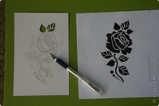 Увидела открытку у Мама_Ирина http://stranamasterov.ru/node/47795 и захотелось самой попробовать вырезать такую розочку. фото 3