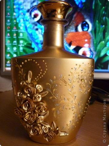 Золотистая бутылочка фото 1