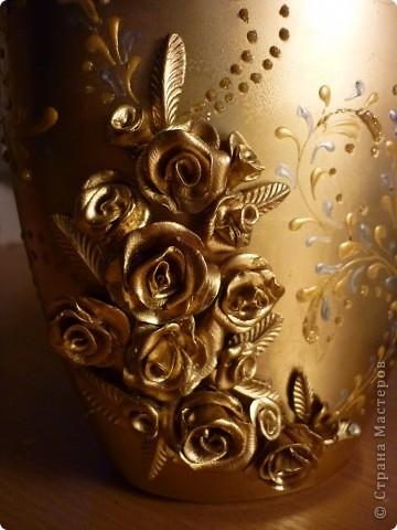 Золотистая бутылочка фото 3