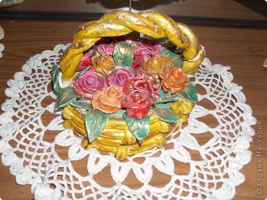Корзиночка с розами))) фото 1