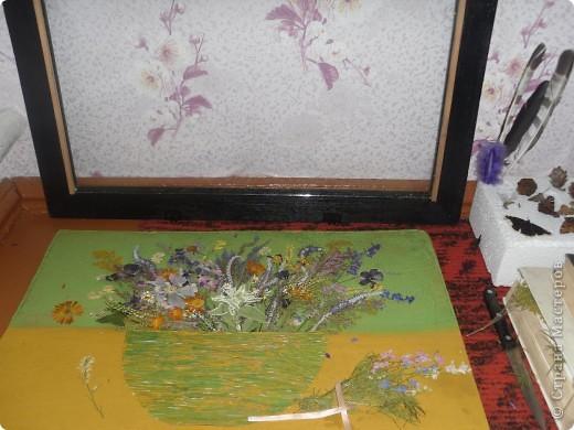 Моя работа из природного материала, применение гербария))) фото 3
