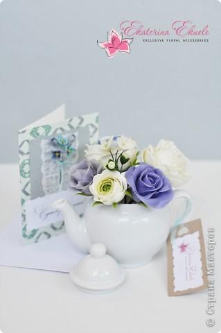 подарочный набор (букет и открытка), сделанные на заказ ко дню рождения фото 1