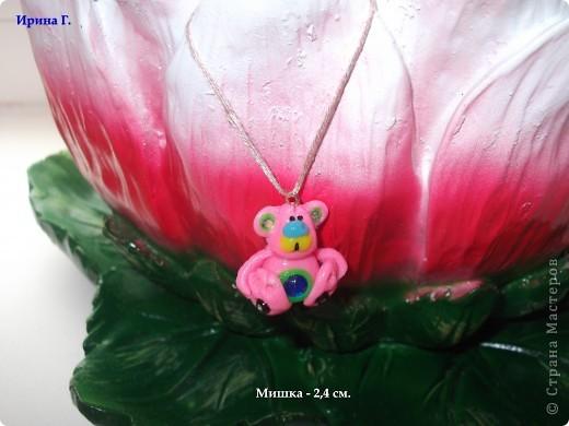 Мишка, высота 2,3 см. фото 3