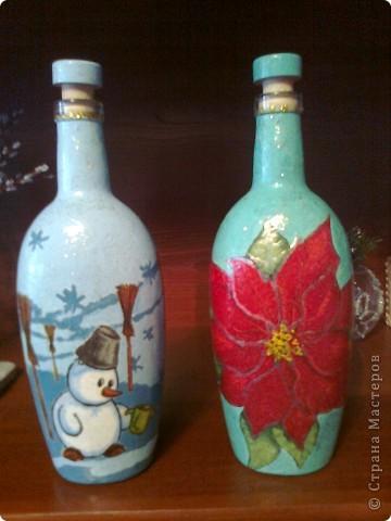 И еще немного новогодних бутылок. фото 6