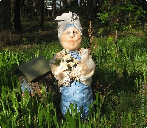 Тетушка Глафира (фигурка для сада) фото 13