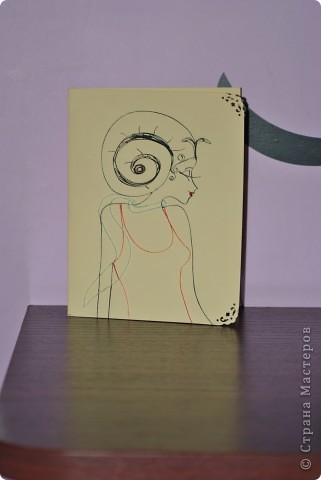 Вот такую открыточку сделала в подарок подруге. фото 1