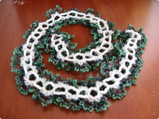 Колье легко в плетении и очень эффектно смотрится... Плела по МК http://salonbisera.ru/500sxemi-ogalala.html фото 2