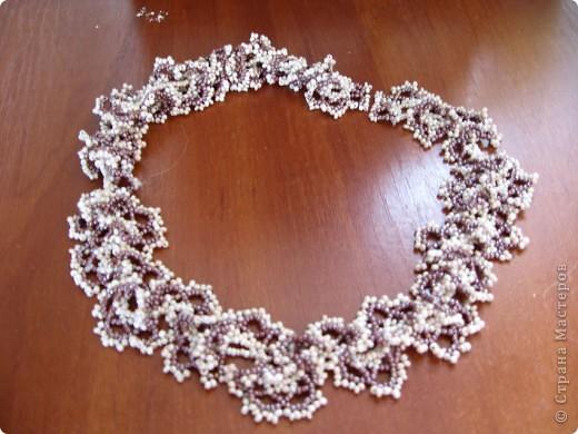 Колье легко в плетении и очень эффектно смотрится... Плела по МК http://salonbisera.ru/500sxemi-ogalala.html фото 4