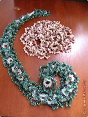 Колье легко в плетении и очень эффектно смотрится... Плела по МК http://salonbisera.ru/500sxemi-ogalala.html фото 5