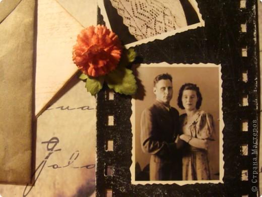 Доброго времени суток жители СМ!!!! Представляю Вашему вниманию первую мою скрапстраничку, посвященную моему дедушке и бабушке, участникам ВОВ фото 8
