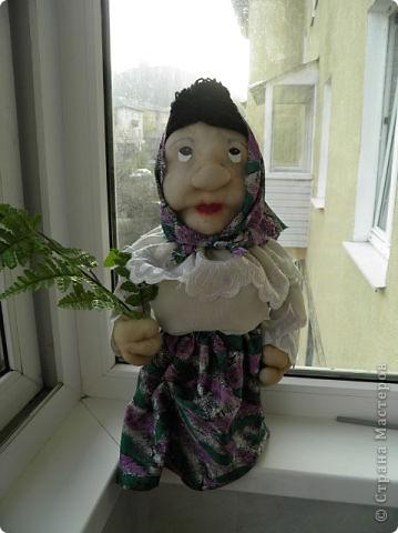 Мой первый опыт, куклы бабуськи в текстильной пластике фото 2