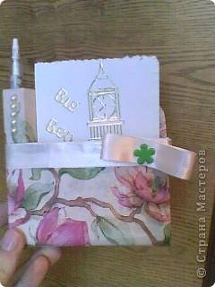 Вот, что у меня получилось:)  Вырезала основу из картона и обклеила её салфетками  фото 2