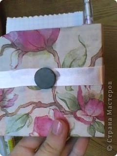 Вот, что у меня получилось:)  Вырезала основу из картона и обклеила её салфетками  фото 3