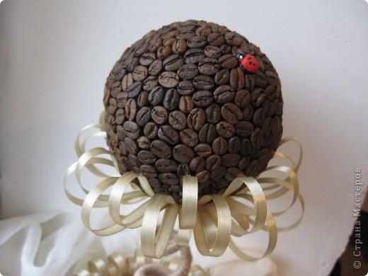 Доброе время суток, всем жителям прекрасной СМ. Я к вам с топиарием в виде кофейного цветочка!!! фото 5