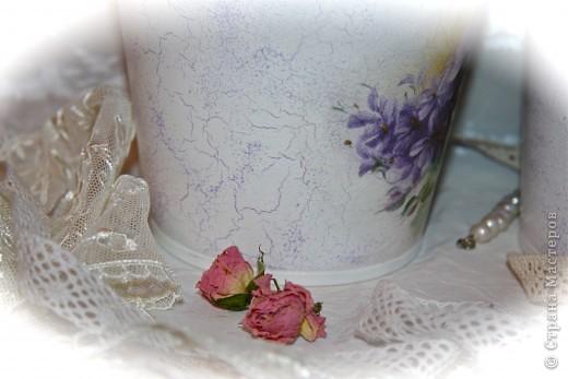 Кашпо Икея.Моя  мечта. Рисовая бумага, акриловые краски, средство для кракелюра и лак. фото 4