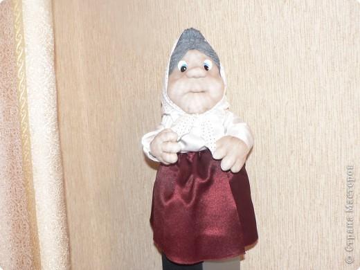 Мой первый опыт, куклы бабуськи в текстильной пластике фото 1
