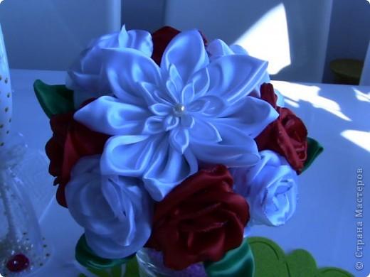Цветы из ткани фото 4