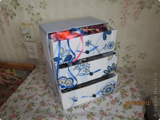 Комодик из картона фото 2
