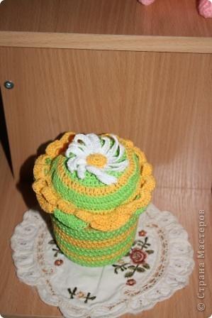 вот такую прелесть связала для одной любительницы шить. фото 1