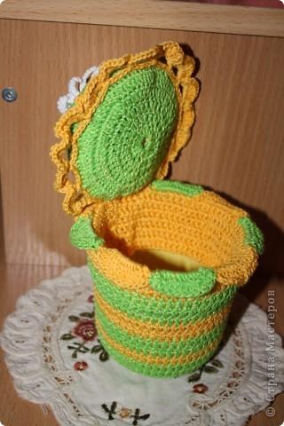 вот такую прелесть связала для одной любительницы шить. фото 3