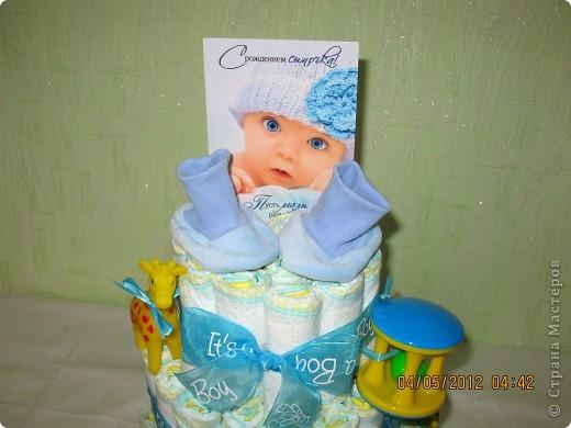 Торт с открыткой