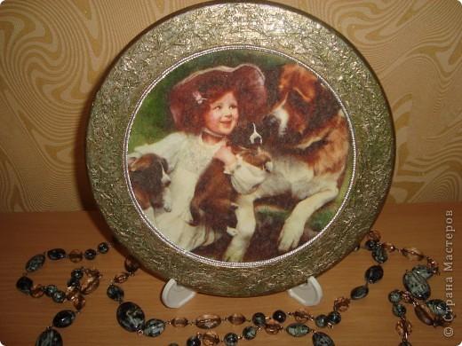 Вот такие  тарелочки с девочками у меня получились фото 2