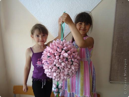 Вот такой подвесной шарик сделали в конце учебного года.Всем очень понравился. фото 1
