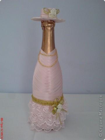 Моя первая бутылка, сделана на день рождения сестре мужа. фото 1