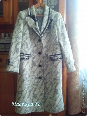 Купив в магазине пальто решила его преобразить фото 1