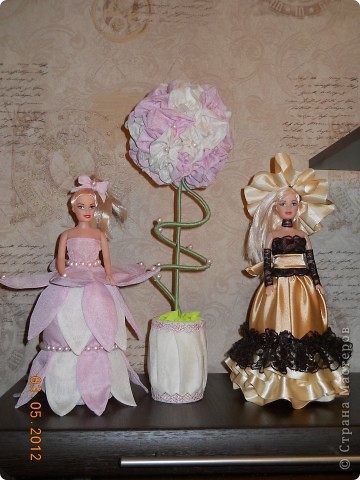 А это самое мое крайнее (как говорит муж))))) творение, куколку заказала сотрудница для своей дочери на день рождение. и у меня родилась идея сделать ей самой подарок на её день рождение, и получилось вот такое деревцо. Спасибо мастерам СМ, ссылочки к сожалению не помню  фото 8
